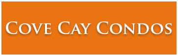Cove Cay Condos Logo and homepage